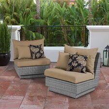 Alfonso Modular Armless Chair with Cushion (Set of 2)