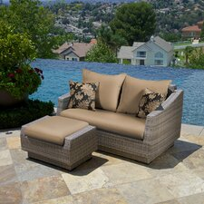 Alfonso 2 Piece Deep Seating Group with Navy Blue Cushions