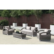 Malta 4 Piece Lounge Seating Group with Cushion