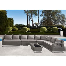 Malta 6 Piece Lounge Seating Group with Cushion