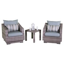 Wonderful Alfonso 3 Piece Deep Seating Group with Cushion