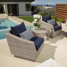 Lovely Alfonso 3 Piece Deep Seating Group with Cushions