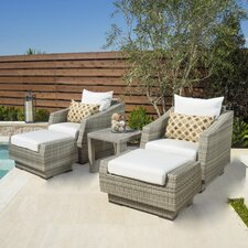 Lovely Alfonso 5 Piece Deep Seating Group with Cushion
