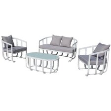 Tallmadge 4 Piece Lounge Seating Group with Cushion