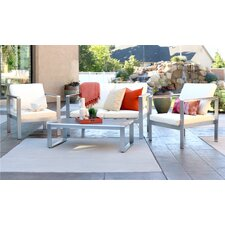 Jody 3 Piece Modern Deep Seating Group with Cushions