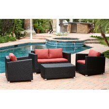 Jadon 4 Piece Deep Seating Group with Cushion