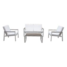 Quincy 4 Piece Deep Seating Group with Cushion (Set of 4)