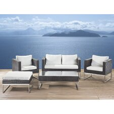 Kabir Garden Furniture 5 Piece Deep Seating Group with Cushions