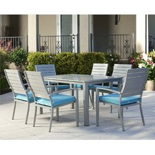 Julien 7 Piece Dining Set with Cushion