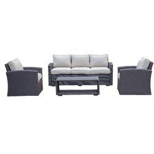 Khaled Sofa 4 Piece Deep Seating Group with Cushion