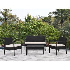 Kobe 4 Piece Lounge Seating Group with Cushion