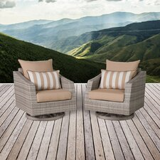 Alfonso Motion Armchair with Cushions (Set of 2)