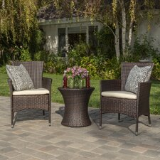 Lockard 3 Piece Outdoor Chat Set