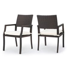 Reviews Cheyenne Outdoor Dining Arm Chairs (Set of 2)