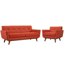 Saginaw Arm Chair and Loveseat Set