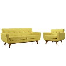 Saginaw Armchair and Loveseat Set