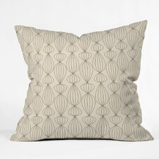 Mocha Outdoor Throw Pillow