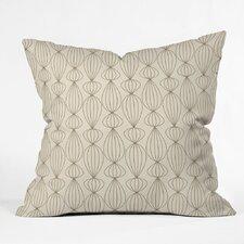 Mocha Outdoor Throw Pillow