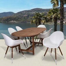 Milland Extendable Patio 7 Piece Dining Set