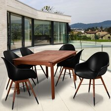 Reviews Milland Patio 7 Piece Dining Set