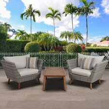 Brighton Patio 3 Piece Deep Seating Group with Cushion
