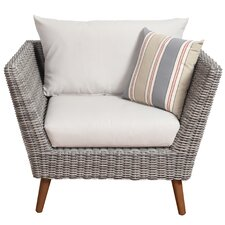 Brighton Eucalyptus Patio Arm Chair with Cushions