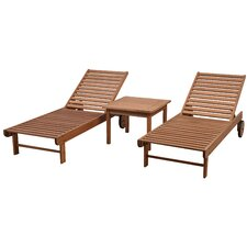 Brighton Patio 3 Piece Single Lounge Set