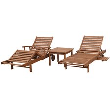 Discount Brighton Patio 3 Piece Single Chaise Lounge Set