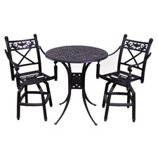 Baldwin 3 Piece Bistro Set