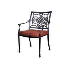 Bermuda Stacking Dining Arm Chair with Cushion (Set of 2)
