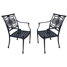 Bermuda Stacking Dining Arm Chair (Set of 2)