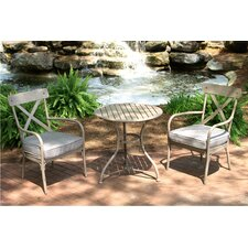 Marquette 3 Piece Bistro Set with Cushions
