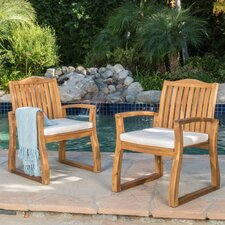 Parisot Dining Arm Chair with Cushion (Set of 2)