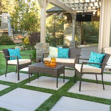 Montsoreau 4 Piece Lounge Seating Group with Cushion