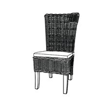 Serpentaire Dining Side Chair with Cushion (Set of 2)