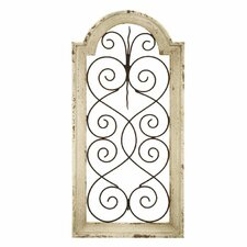 Ivory Wood/Metal Wall Décor