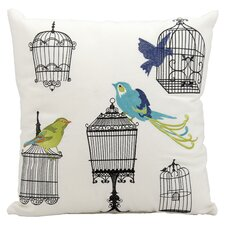 Bird Cages Outdoor Throw Pillow