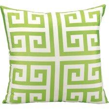 Geometric Faux Silk Outdoor Throw Pillow