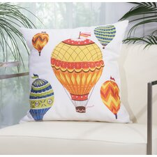 Hot Air Balloon Outdoor Throw Pillow