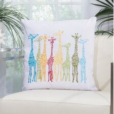 Giraffe Outdoor Throw Pillow