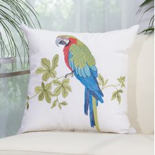 Colorful Parrot Outdoor Throw Pillow