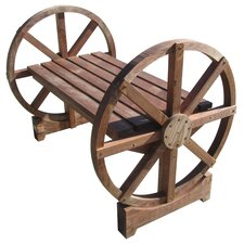 Wheel Wood Garden Bench