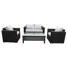 Modern 4 Piece Deep Seating Group with Cushions