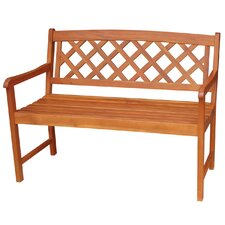 Bargain X-Back Hardwood Garden Bench