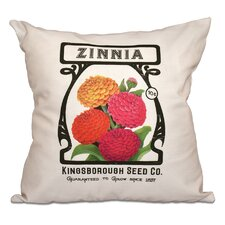 Swan Valley Zinnia Floral Outdoor Throw Pillow