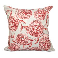 Swan Valley Antique Flowers Floral Outdoor Throw Pillow