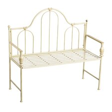 Minot Headboard Design Metal Garden Bench