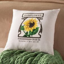 Swan Valley Sunflower Floral Outdoor Throw Pillow