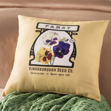 Swan Valley Pansy Floral Outdoor Throw Pillow