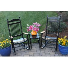 Best #1 Janelle Wrightsville 3 Piece Adult Rocking Chair and Table Set